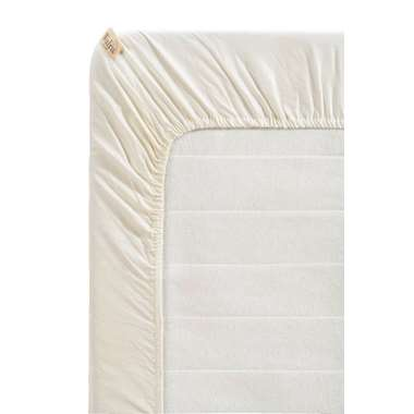 Walra hoeslaken Remade - off-white - 180x220 cm - Leen Bakker