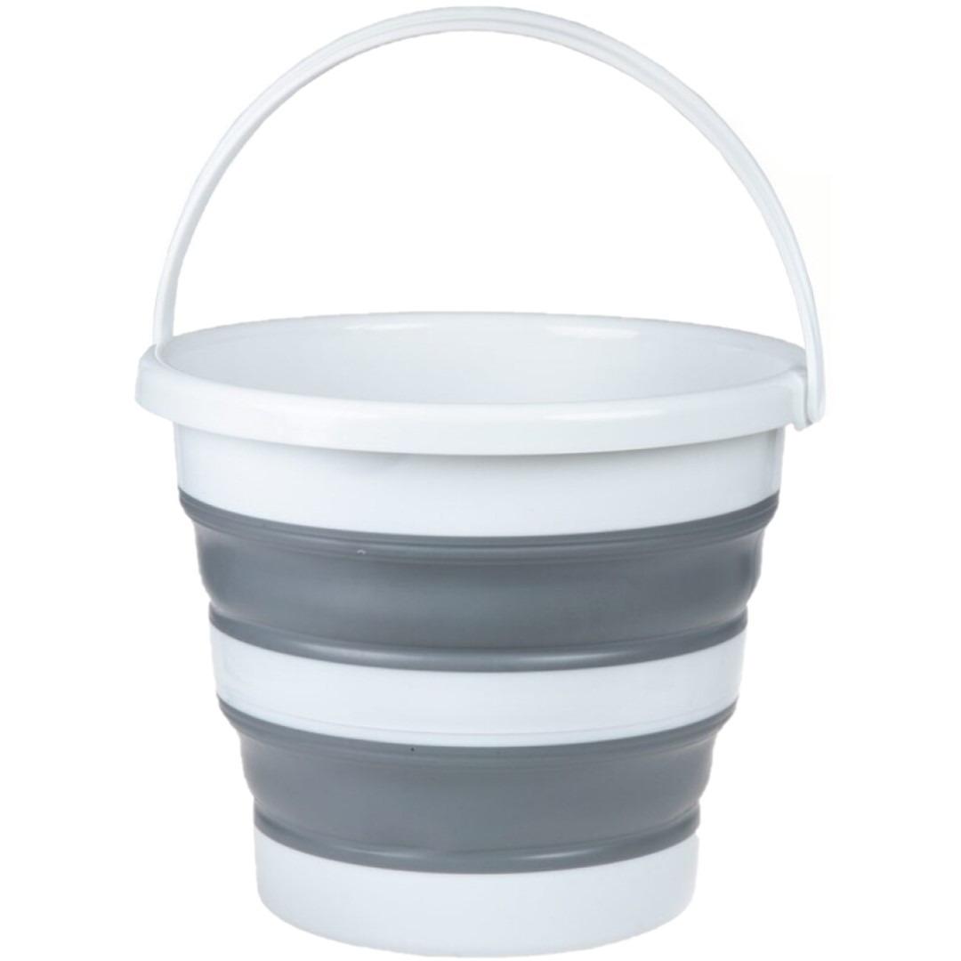 Opvouwbare emmer wit/grijs 22 liter -