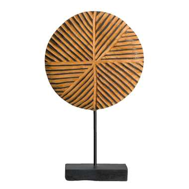 Deco beeld Dex teakhout - bruin - 42x25x10 cm - Leen Bakker