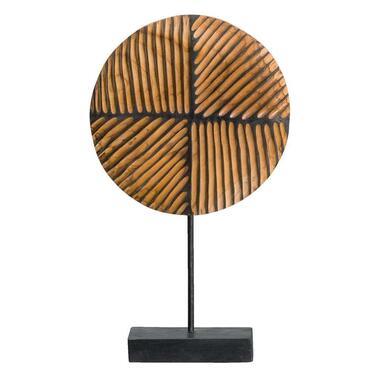 Deco beeld Levi teakhout - bruin - 42x25x10 cm - Leen Bakker