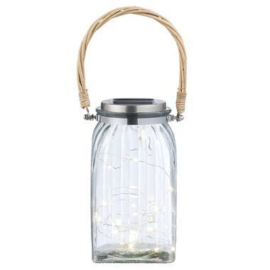 Lantaarn Primavera glas - transparant - 19,5x10 cm - Leen Bakker