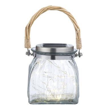 Lantaarn Primavera glas - transparant - 11,5x10 cm - Leen Bakker
