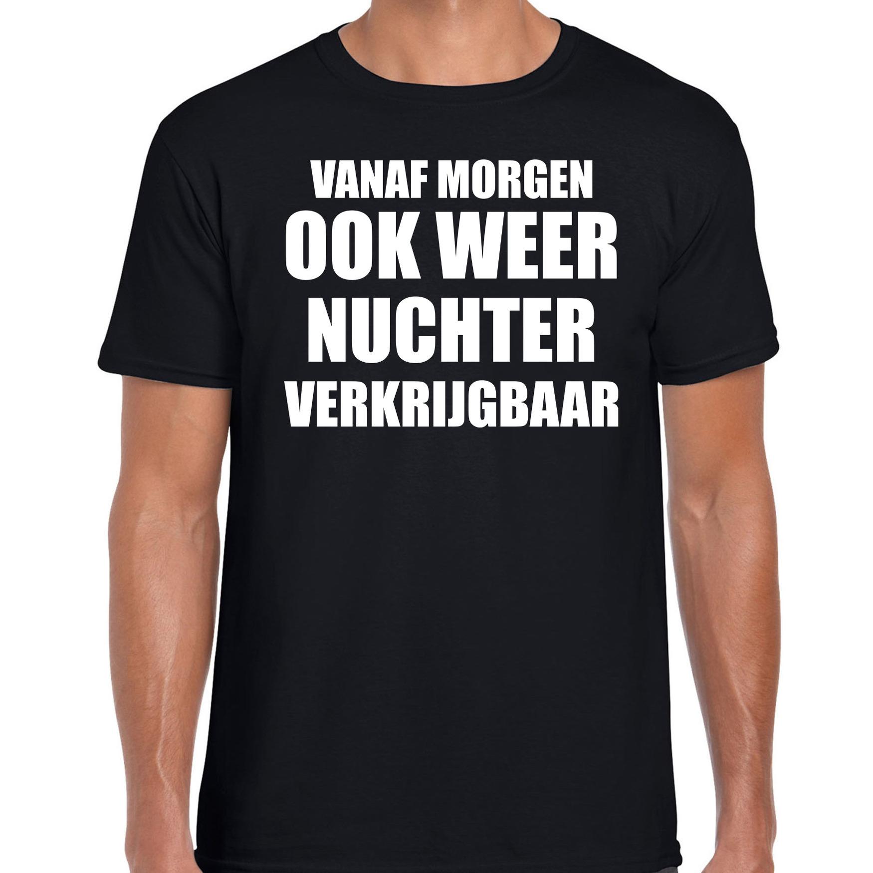 Feest t-shirt morgen nuchter verkrijgbaar zwart voor heren S -