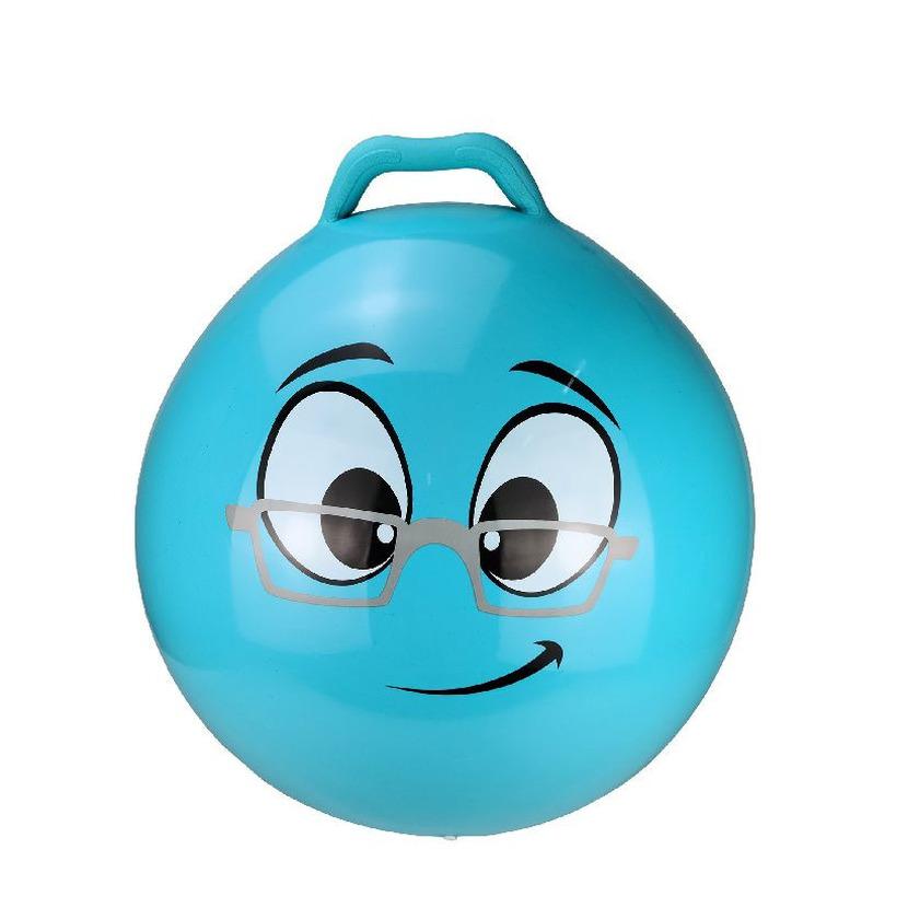 Skippybal smiley voor kinderen blauw 55 cm -