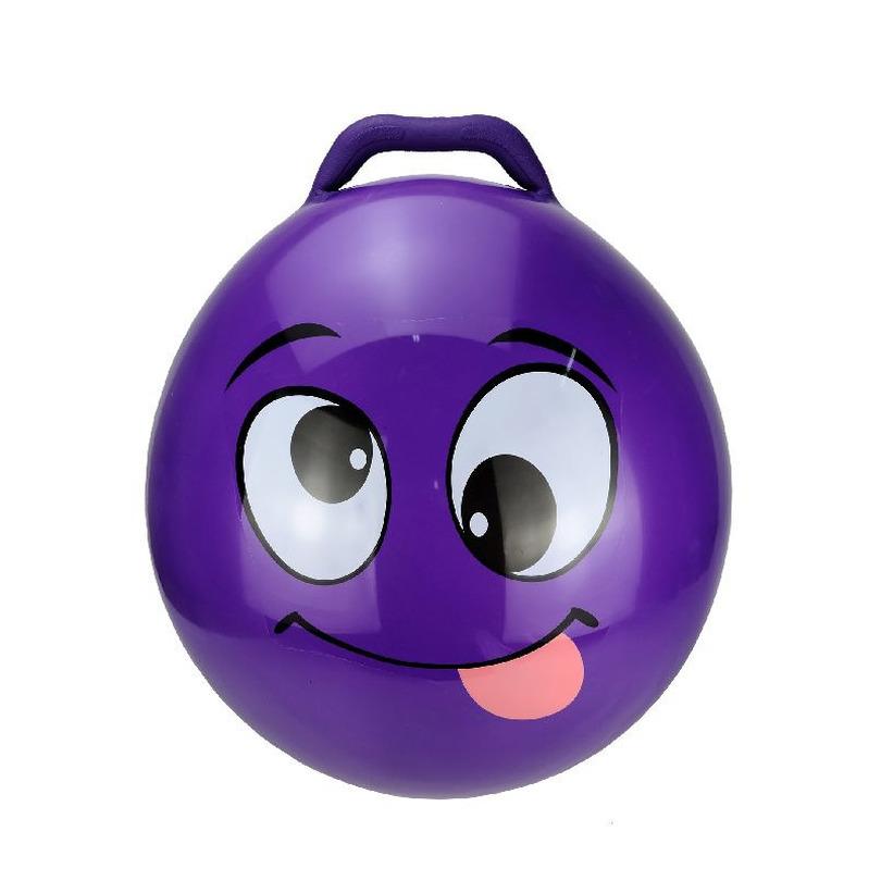 Skippybal smiley voor kinderen paars 55 cm -