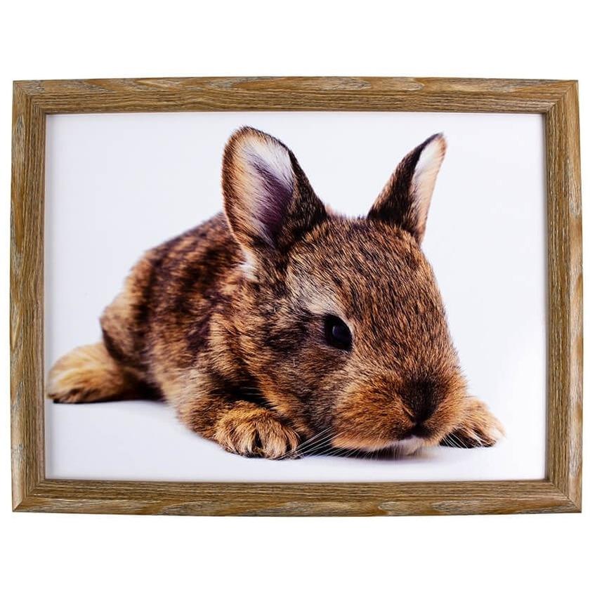 Schootkussen/laptray konijn print 43 x 33 cm -