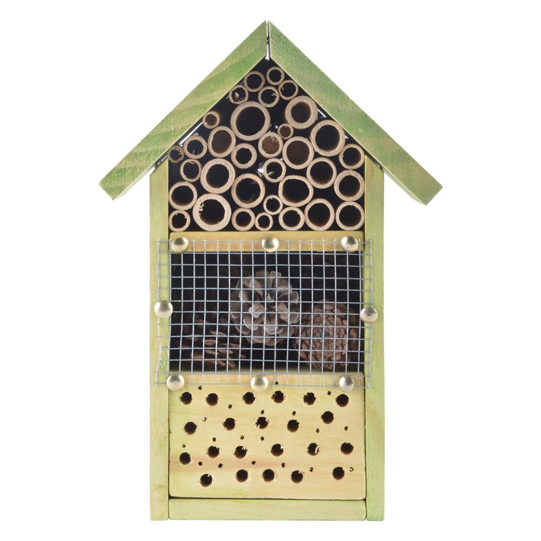 Doe-het-zelf insectenhotel/insecten nestkast 26 cm -