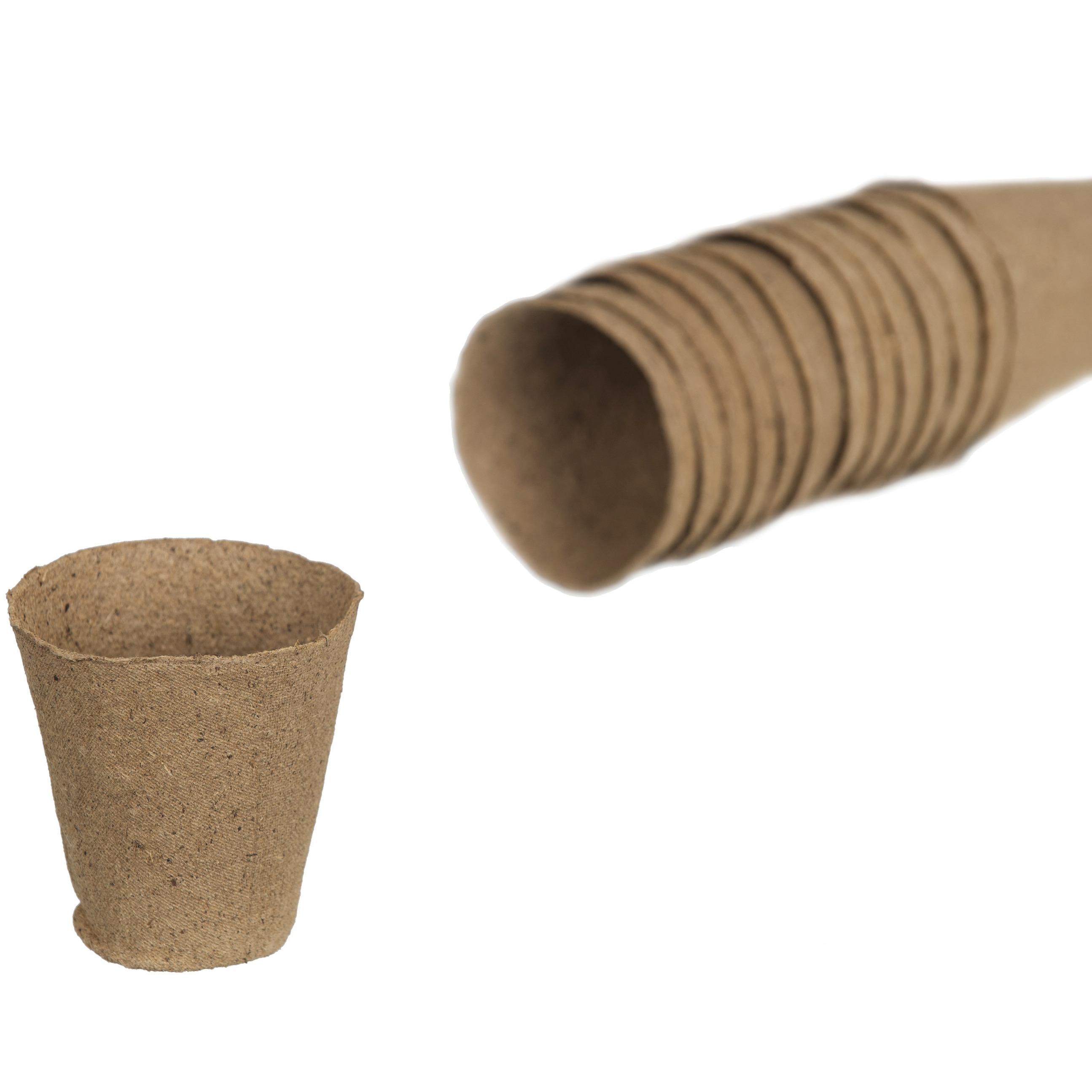 18x stuks biologisch afbreekbare stekpotje / kweekpot 6 cm -