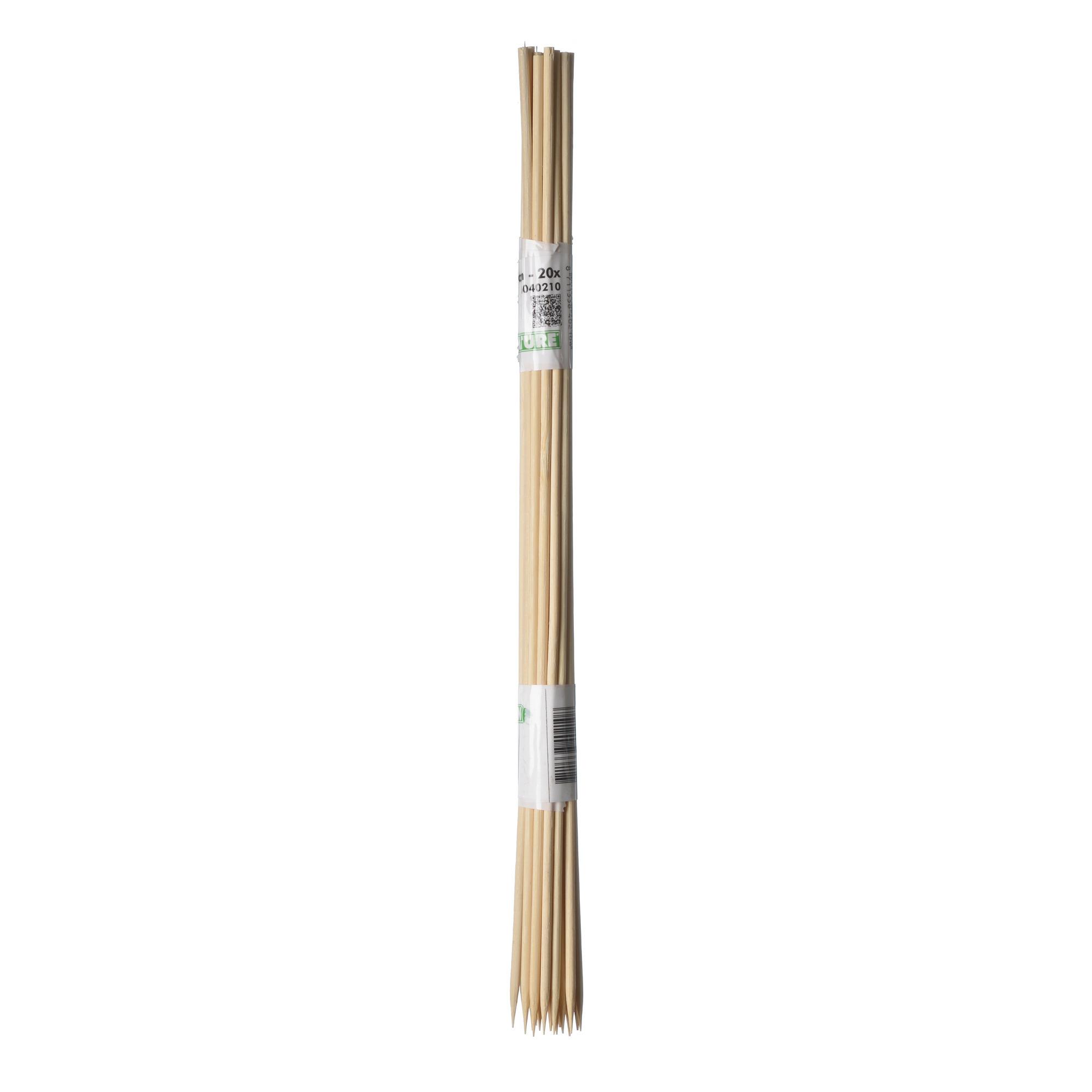 10x stuks splitbamboe / bamboestokjes 50 cm - plantensteun / tonkinstokken -