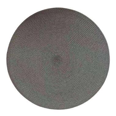 Placemat Arianne - grijs - Ø38 cm (1 stuk) - Leen Bakker