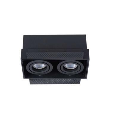 Lucide inbouwspot Trimless 2 lichts - zwart - Leen Bakker