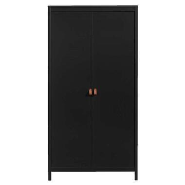 Kledingkast Madeira 2-deurs - zwart - 199x102x58 cm - Leen Bakker