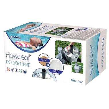 Bestway Flowclear Polysphere - wit - 500G - Leen Bakker