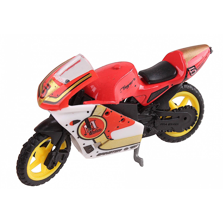 Johntoy Motor Super Bike Schaal 1:24 Oranje/wit