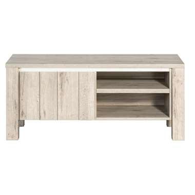 TV-meubel Jens, met verlichting - grijs eikenkleur - 52x118x50 cm - Leen Bakker