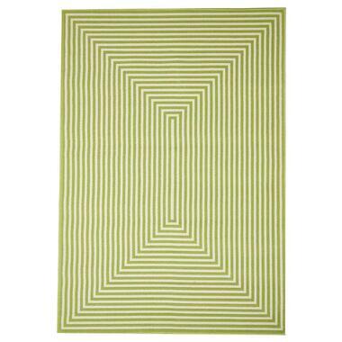 Floorita binnen/buitenvloerkleed Braid - groen - 200x285 cm - Leen Bakker