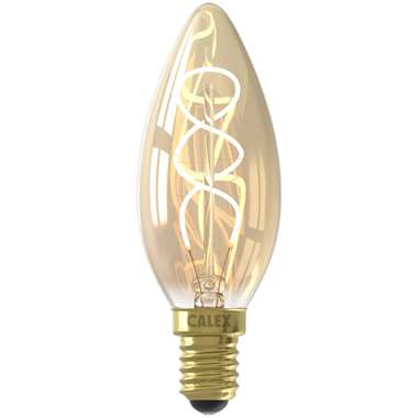 Calex LED kaarslamp filament - goudkleur - 4W - E14 - Leen Bakker