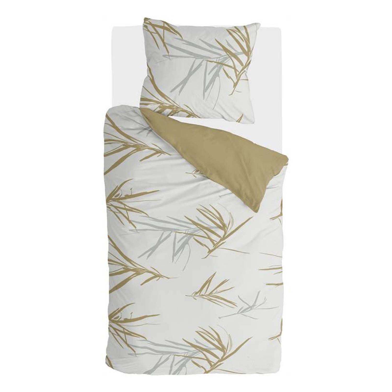 Walra Remade Bamboo Grasses Dekbedovertrek - 1-persoons (140x200/220 Cm + 1 Sloop) - Katoen Satijn - Honing Mosterd