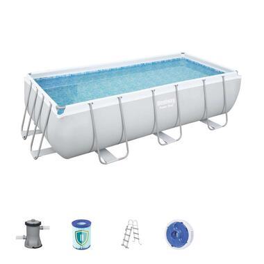 Bestway - zwembad grijs - 404x201x100 cm - Leen Bakker