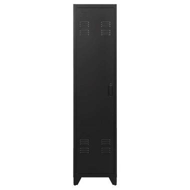 Kledingkast Mick 1-deurs - antraciet - 180x43x50 cm - Leen Bakker