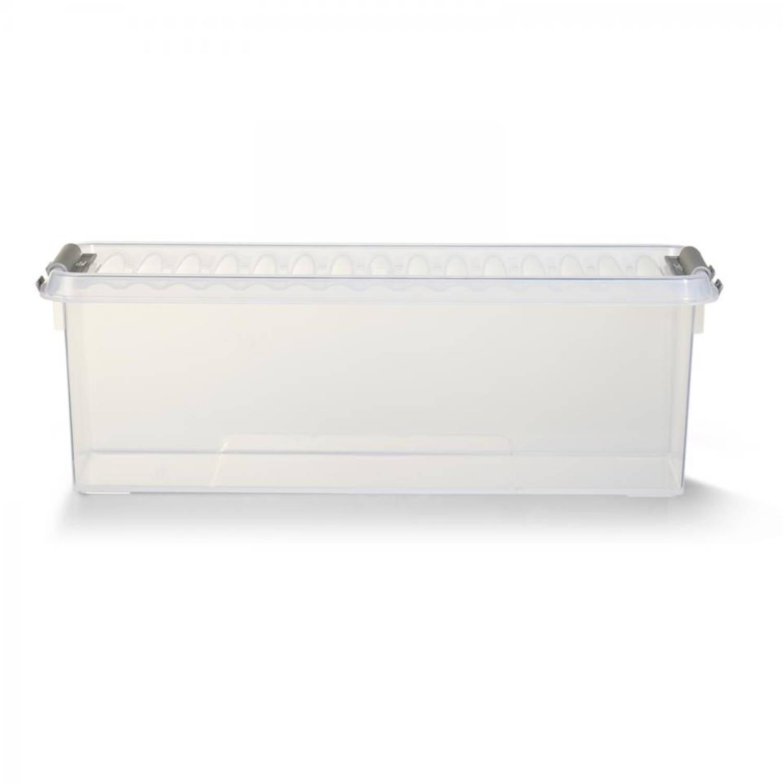 Sunware Q-line Opbergbox - 1,3 L - Transparant/lichtgrijs
