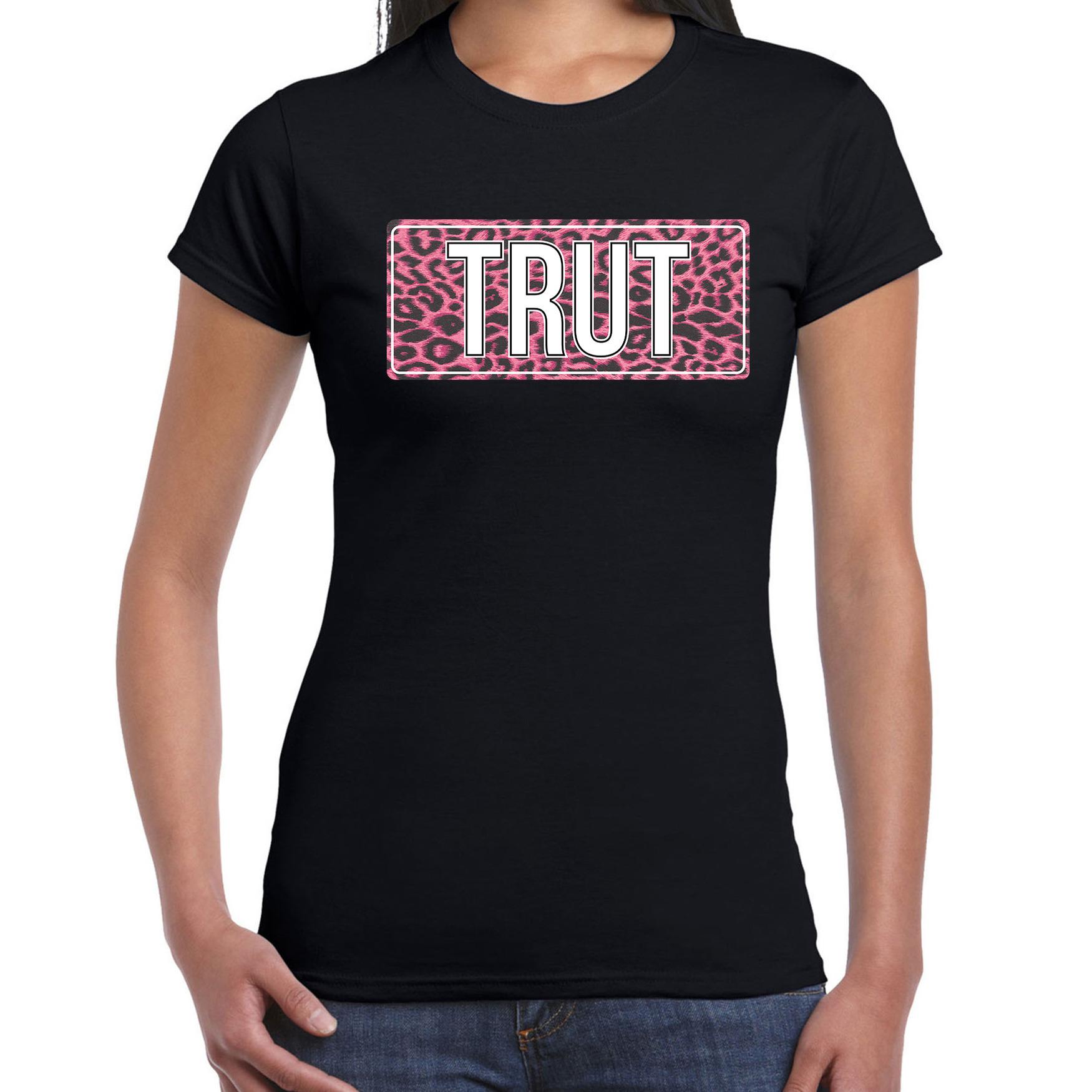 Trut fun tekst t-shirt zwart voor dames XS -