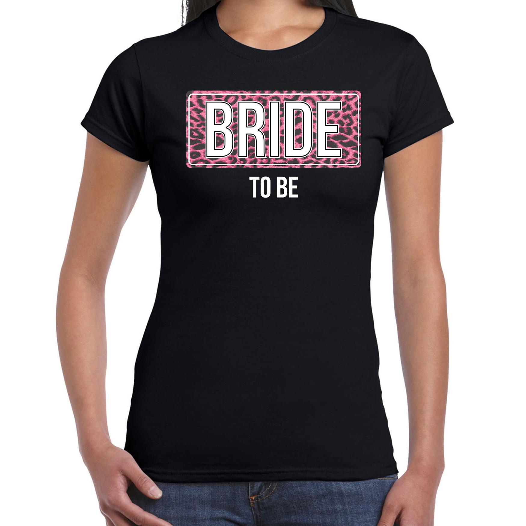 Bride to be t-shirt zwart voor dames 2XL -