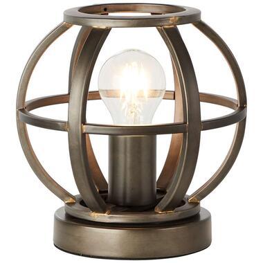 Brilliant tafellamp Basia - zwart - 18 cm - Leen Bakker