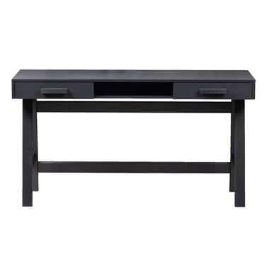 WOOOD bureau Benson - mat zwart - 75x140x62 cm - Leen Bakker