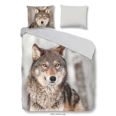 Good Morning dekbedovertrek Wolf - multikleur - 200x200/220 cm - Leen Bakker