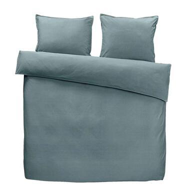 Easy dekbedovertrek Ryan - grijsblauw - 200x200 cm - Leen Bakker