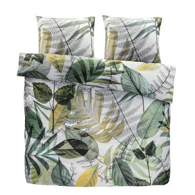Comfort dekbedovertrek Chloe - groen - 200x200/220 cm - Leen Bakker