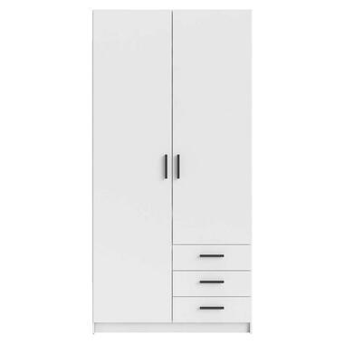 Kledingkast Sprint 2-deurs - wit - 200x98,5x50 cm - Leen Bakker