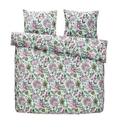 Comfort dekbedovertrek Pippa - groen/roze - 200x200/220 cm - Leen Bakker