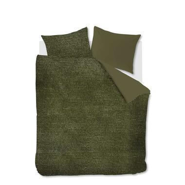 At Home by Beddinghouse dekbedovertrek Cosy corduroy - groen - 200x200/220 cm - Leen Bakker