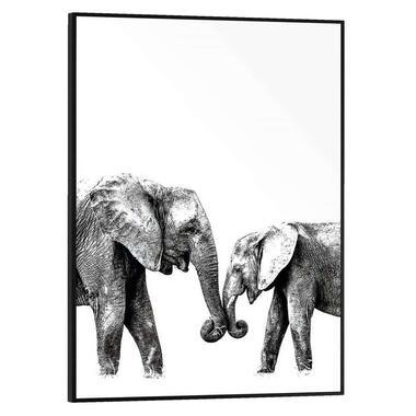 Poster met lijst Olifanten - 40x30 cm - Leen Bakker