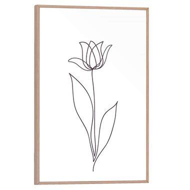 Poster met lijst Tulp - 30x20 cm - Leen Bakker