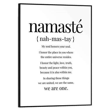Poster met lijst Namaste - 40x30 cm - Leen Bakker