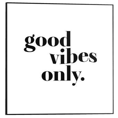 Poster met lijst Good Vibes Only - 50x50 cm - Leen Bakker