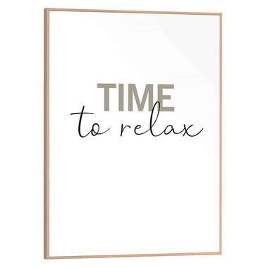 Poster met lijst Time to Relax - 30x40 cm - Leen Bakker
