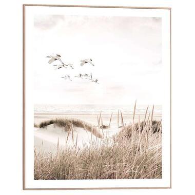 Poster met lijst Strand - 50x40 cm - Leen Bakker