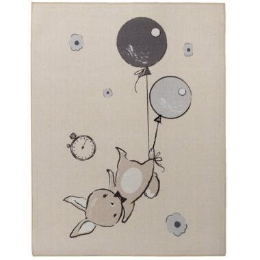 Vloerkleed Balloon Bunny - beige - 95x125 cm - Leen Bakker