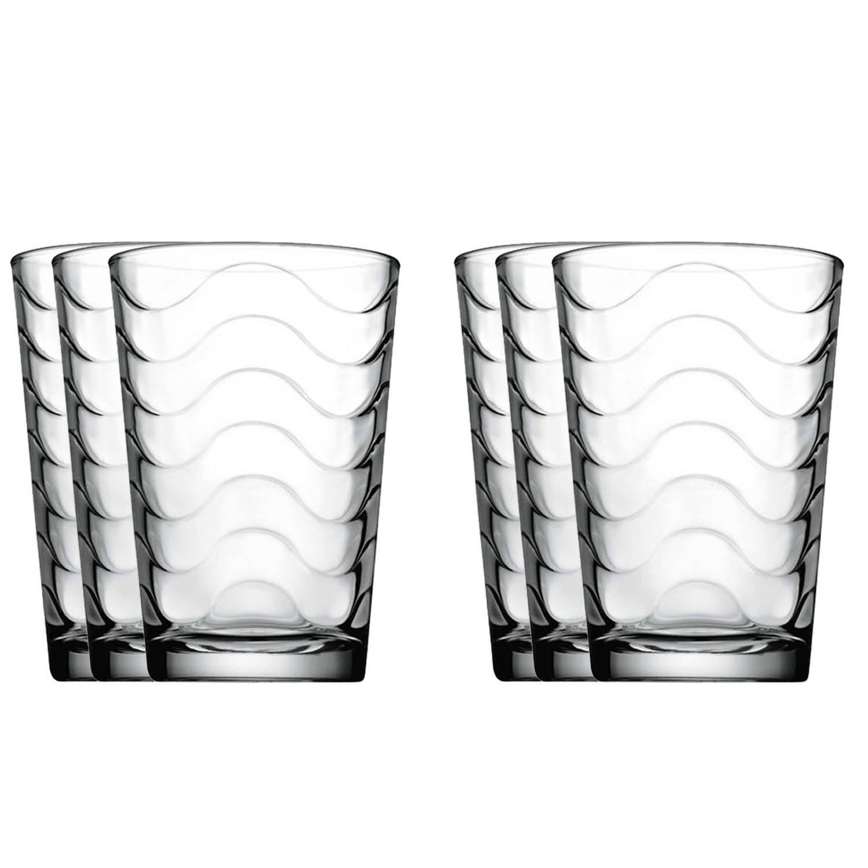6x Drinkglazen/waterglazen Transparant 200 Ml Toros - Drinkglazen
