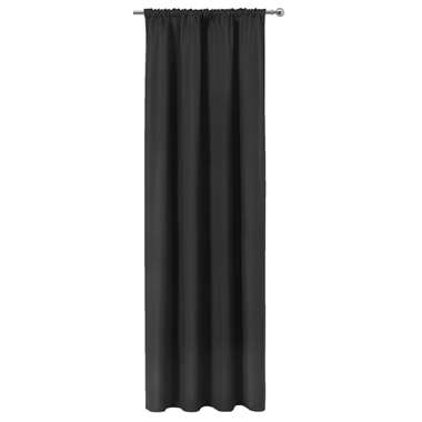 Gordijn Ben - zwart - 250x140 cm (1 stuk) - Leen Bakker