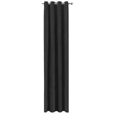 Gordijn Jesse - zwart - 250x140 cm (1 stuk) - Leen Bakker