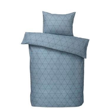 Comfort dekbedovertrek Bologna - blauw - 140x200/220 cm - Leen Bakker