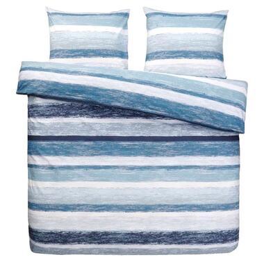 Comfort dekbedovertrek Matthew - blauw - 200x200 cm - Leen Bakker