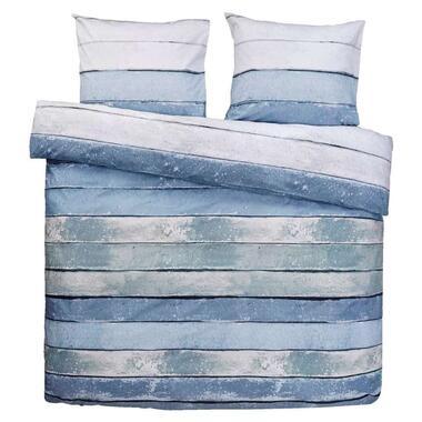Comfort dekbedovertrek Xander blauw/groen - 200x200/220 cm - Leen Bakker