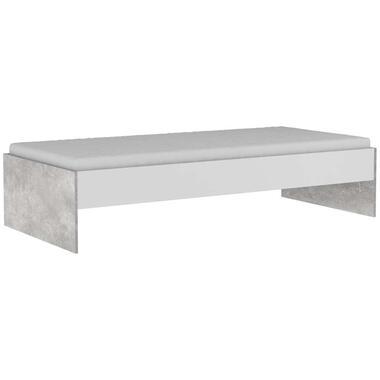 Demeyere bed Concrete - wit/betongrijs - 90x200 cm - Leen Bakker