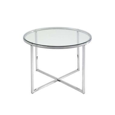 Bijzettafel Indor - glas - 45xØ55 cm - Leen Bakker